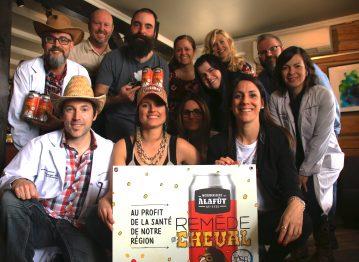 Lancement de la Remède de Cheval, une bière au profit de la santé de notre région