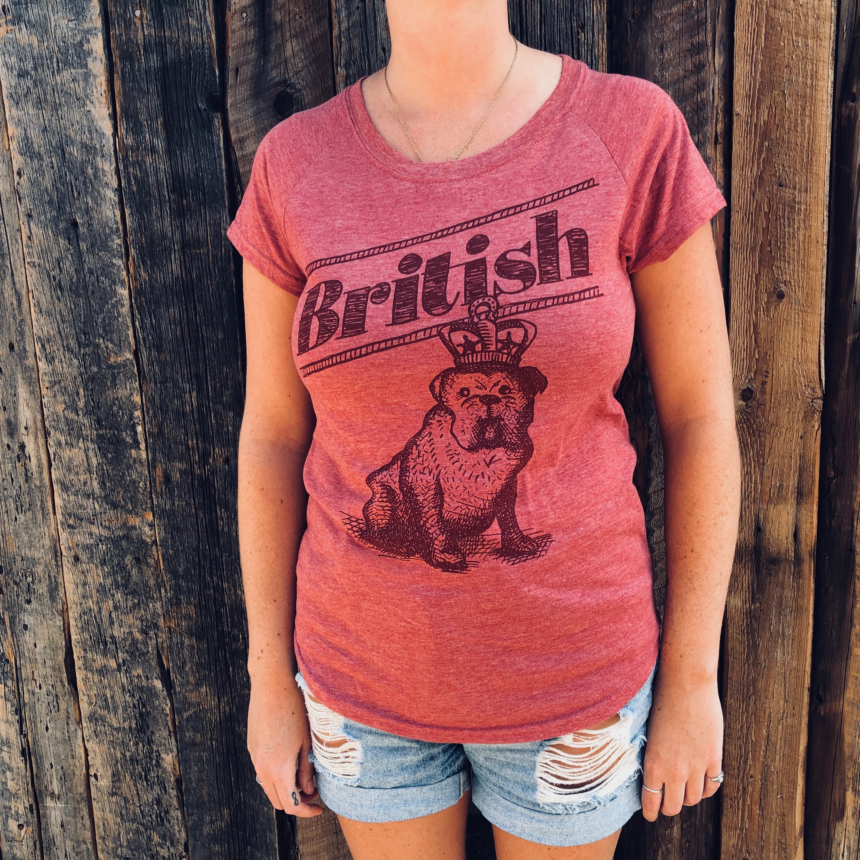 T-shirt British – femme