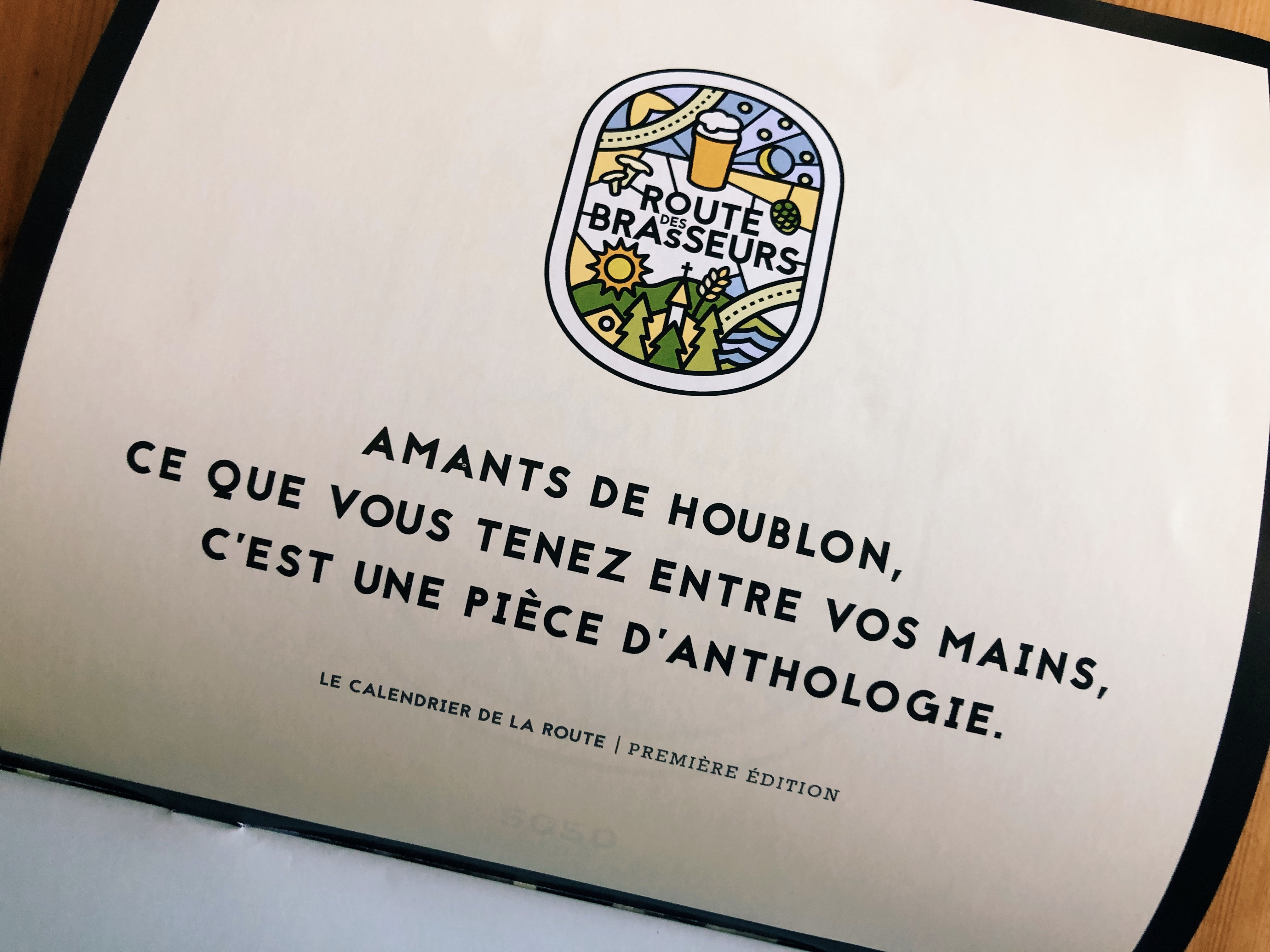LIQUIDATION! Calendrier 2020 Route des Brasseurs