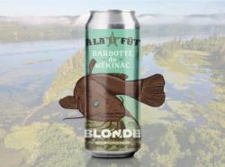 Une bière de pêche pour le Trou à Barbotte!